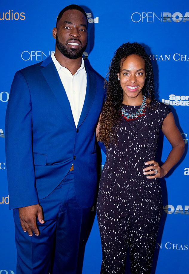 Justin Tuck and wife Lauren (Taylor Ballantyne)