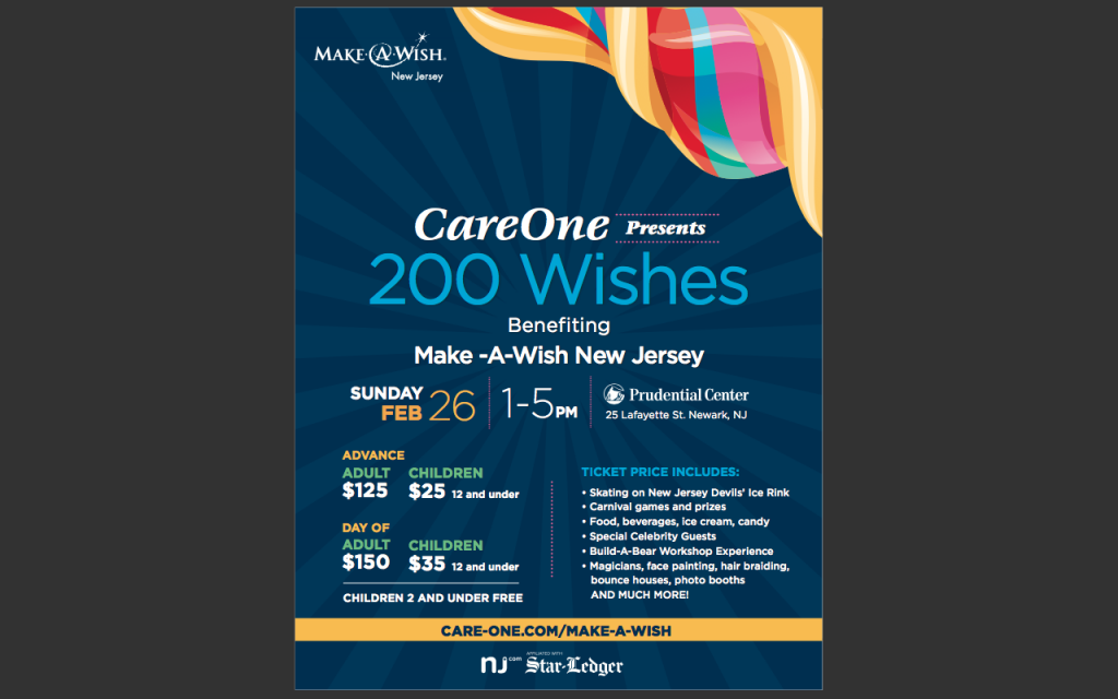 CareOne Hosts Fundraiser to Support Make-A-Wish @ Prudential Center | Newark | New Jersey | United States