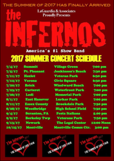 The Infernos Summer Concert Tour 2017 in Lodi NJ @ Memorial Park | Lodi | New Jersey | United States