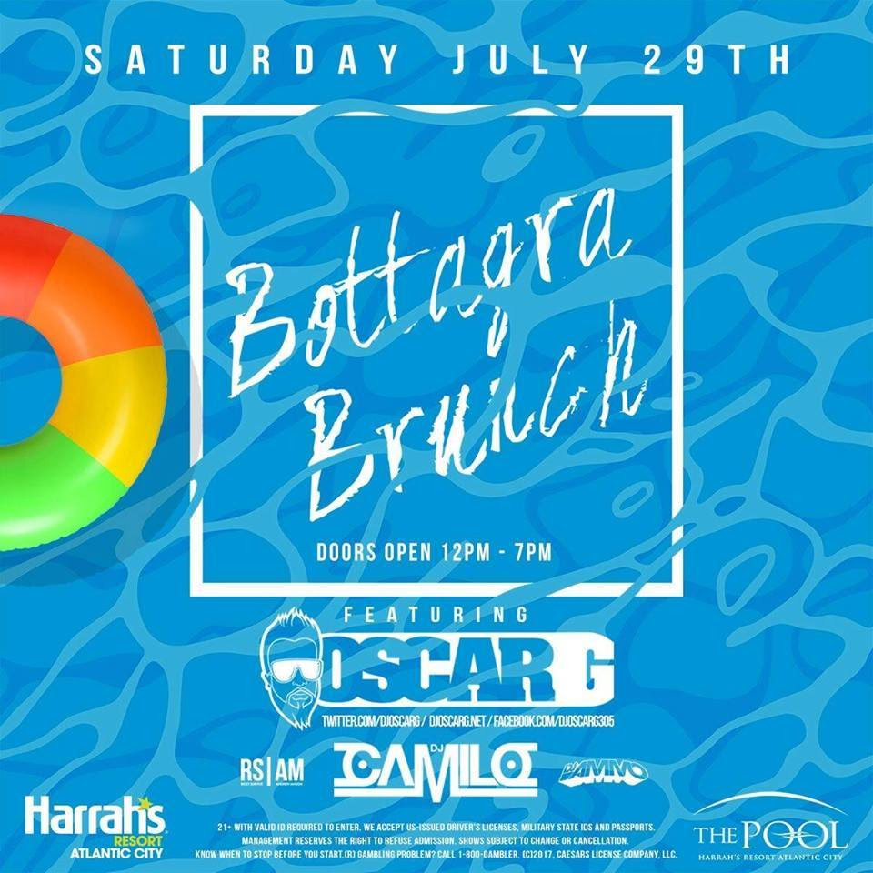 The Bottagra Brunch Pool Party with Oscar G @ Harrah's Pool | Atlantic City | New Jersey | United States