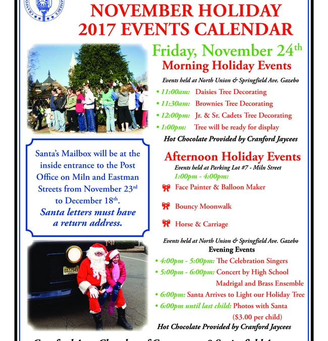 Holiday Tree Lighting @ Downtown Cranford | Cranford | New Jersey | United States