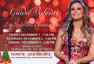 Giada Valenti  - Live Under The Christmas Tree @ Loreto Theatre at the Archbishop Sheen Center | New York | New York | United States