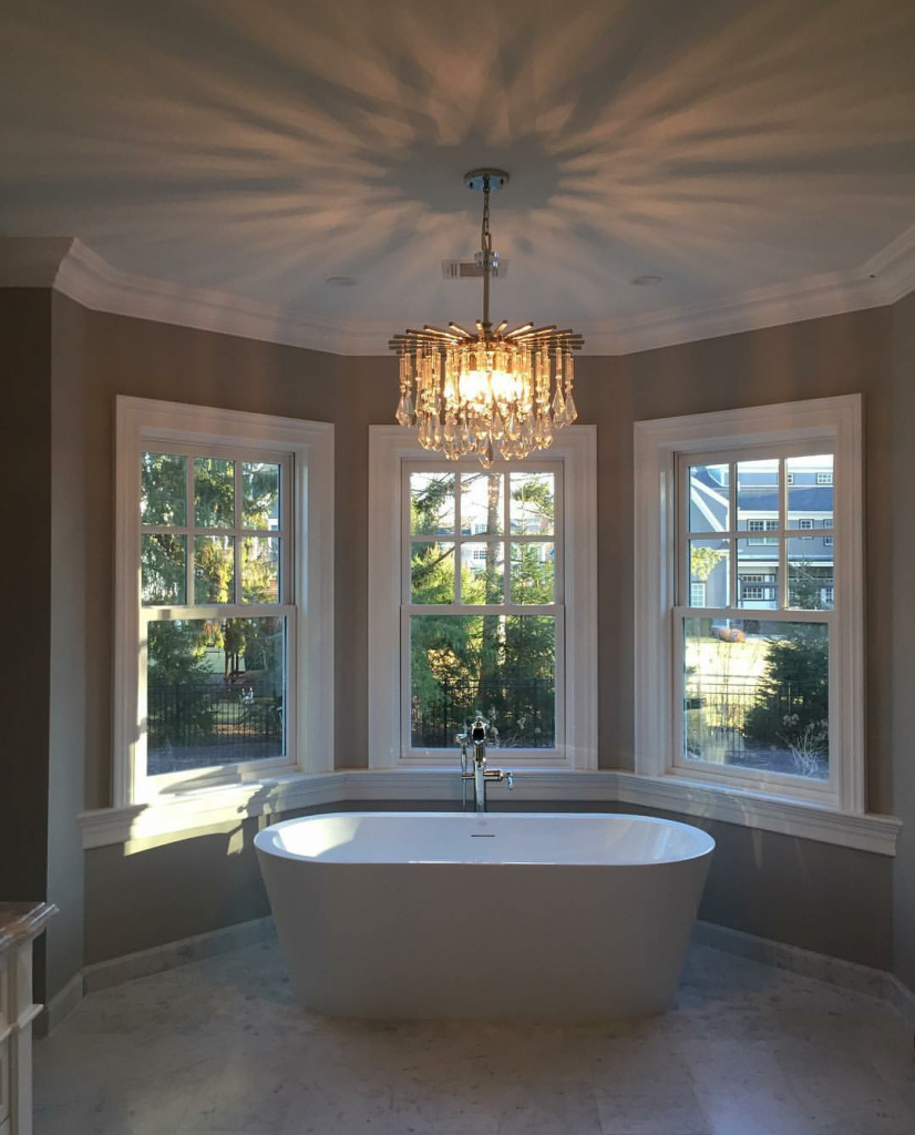 On Trend Bathroom Chandeliers Hip New Jersey How To Install A Stylish Chandelier Platinum Electrical Services Installation In Chatham