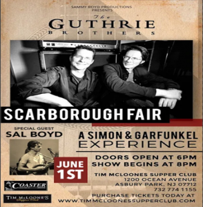 The Guthrie Brothers with Special Guest, Sal Boyd @ Tim Mcloone's Supper Club | Asbury Park | New Jersey | United States