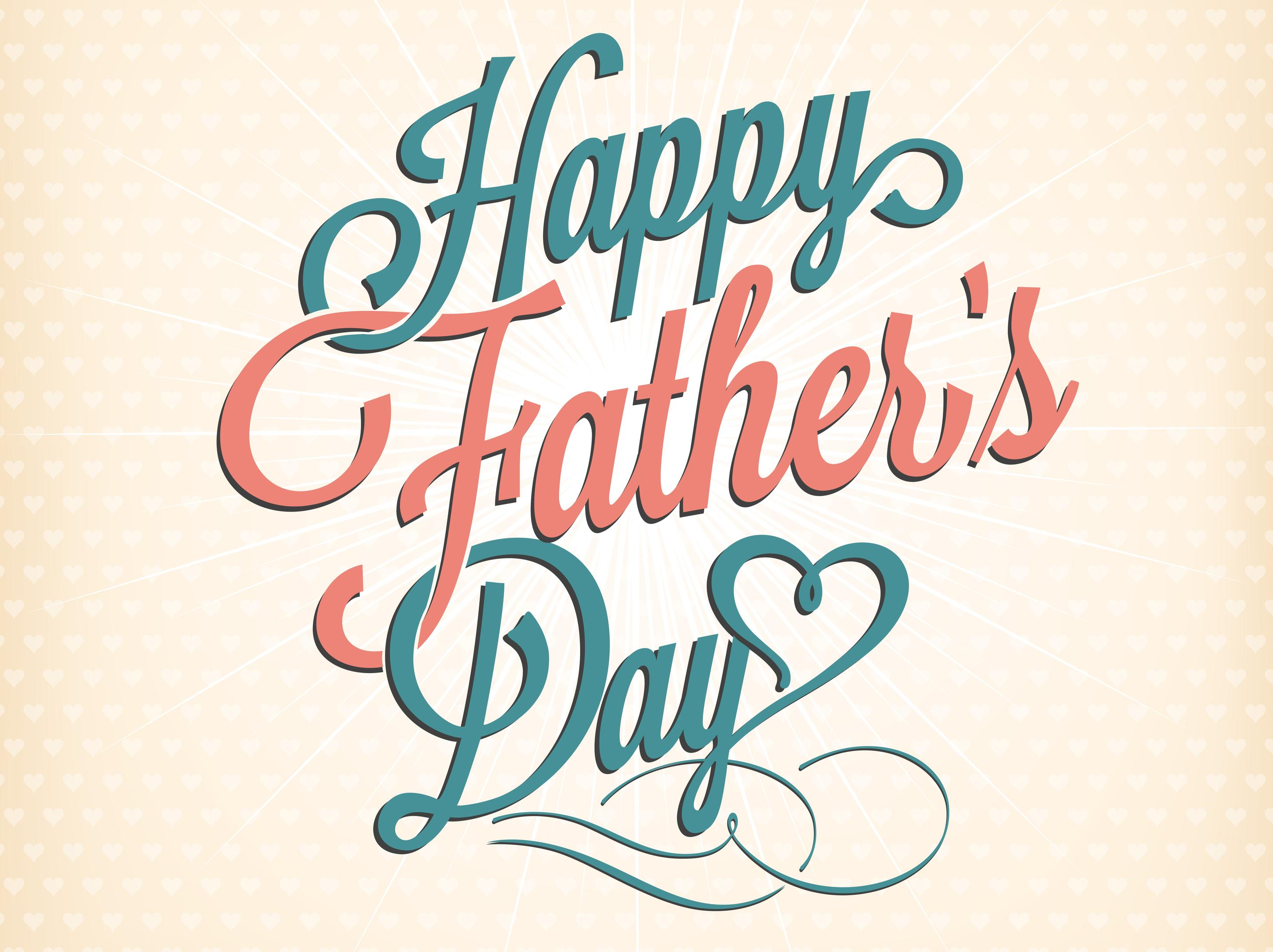 Happy Father's Day Typographical Background - Hip New Jersey