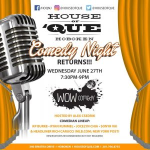 House Of Que Comedy Night @ House Of Que | Hoboken | New Jersey | United States