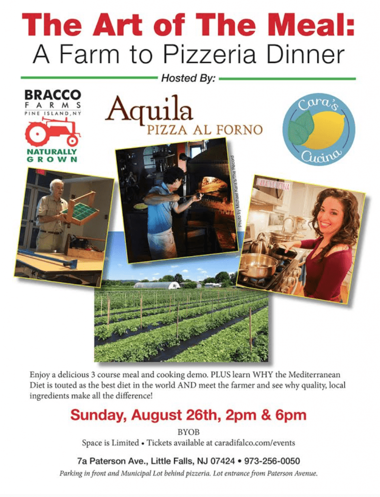 THE ART OF THE MEAL: A FARM TO PIZZERIA DINNER @ Aquila Pizza Al Forno | Little Falls | New Jersey | United States