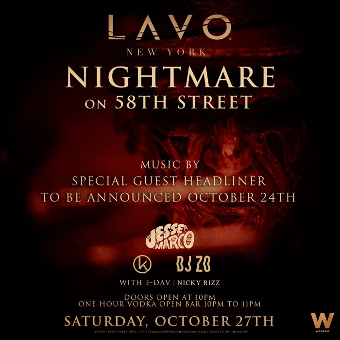 Lavo NYC: Nightmare on 58th Street @ Lavo Nightclub | New York | New York | United States