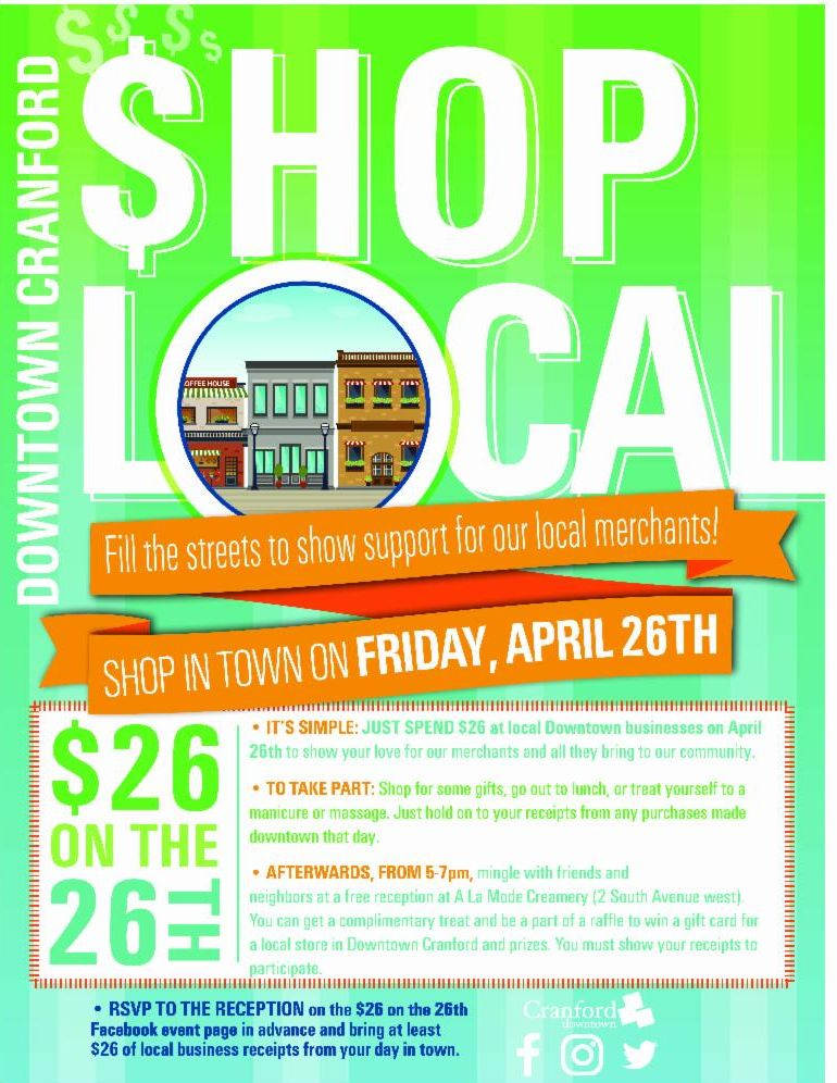 Downtown Cranford Shop Local Event
