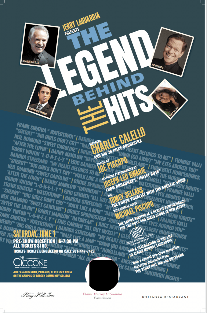 The Legends Behind the Hits at Bergen County @ The Ciccone at Bergen Community College